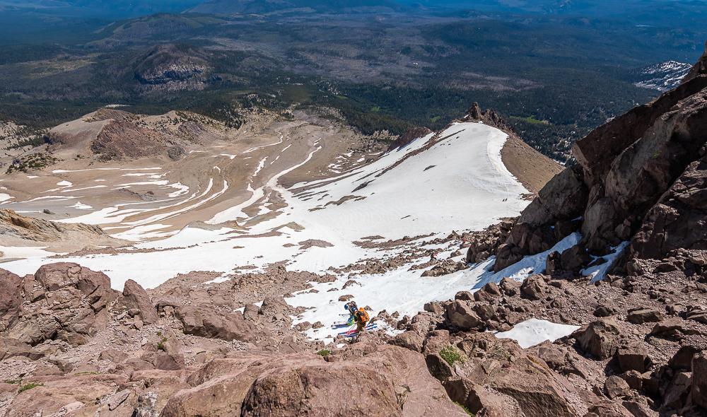 skiing Lassen Peak