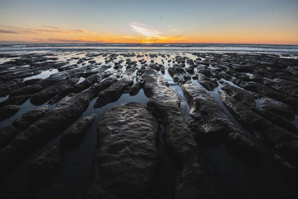 stone steps beach